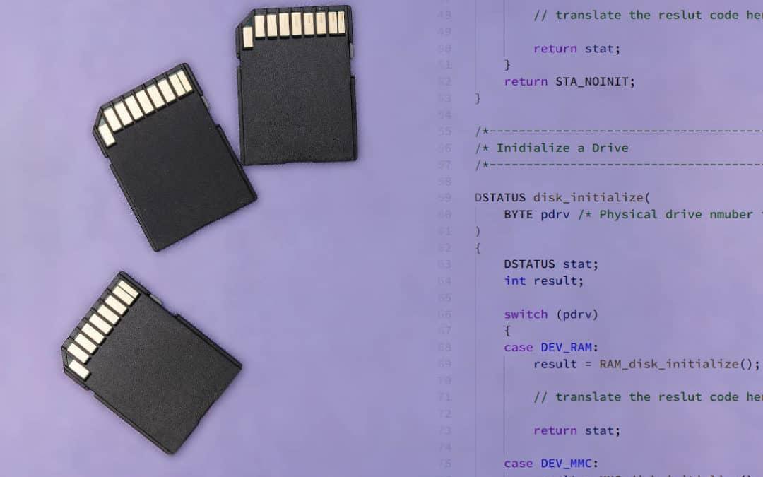 Bien réussir la gestion d'une carte micro-SD dans les systèmes embarqués : le logiciel